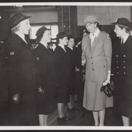 Mrs. Eleanor Roosevelt in Melbourne, inspecting a W.R.A.N. guard of honour at a naval base, 1943 Sep. 8. Leader, Melbourne (www.slv.vic.gov.au)